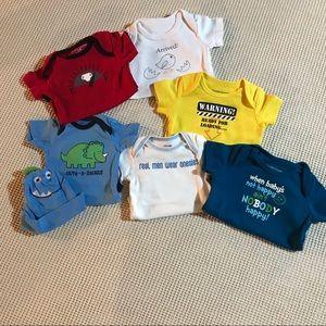 Graphic onesie baby boy 0-3 month bundle